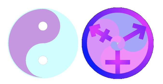 symbole transgenre yin yang