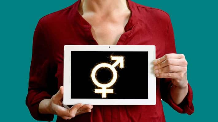transgender with symbol