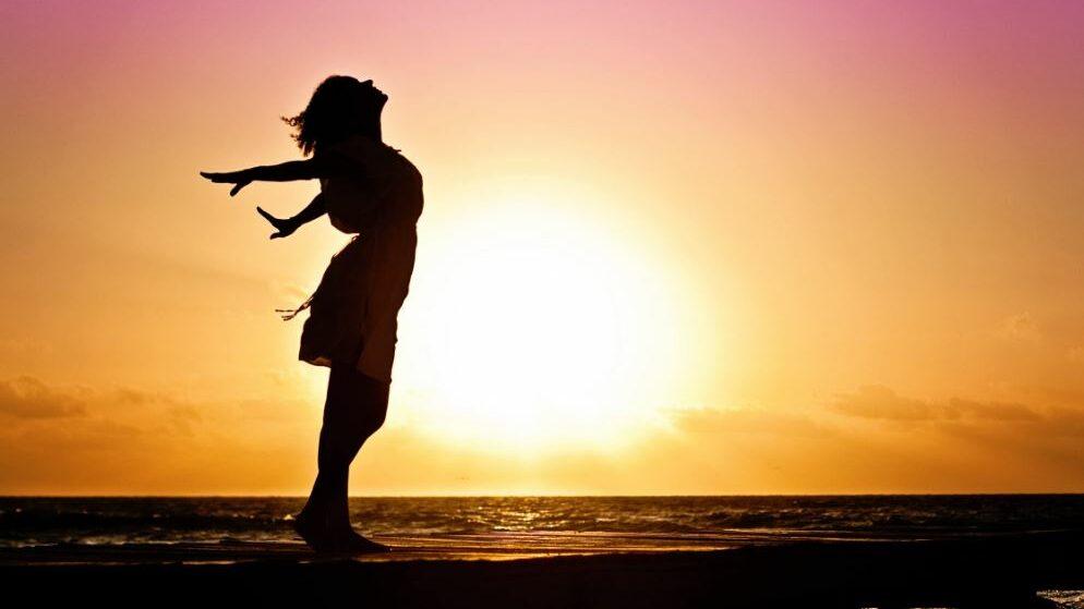 women and sunshine
