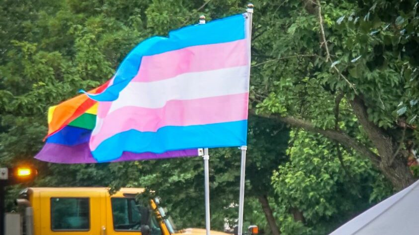 transgender and LGBT flags